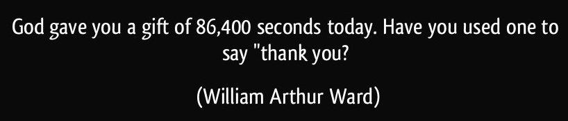 86,400 seconds